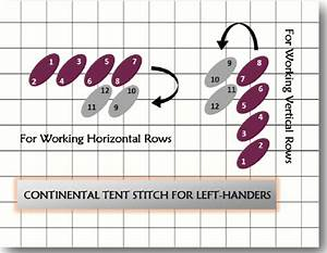 Continental Tent Stitch For Right And Left