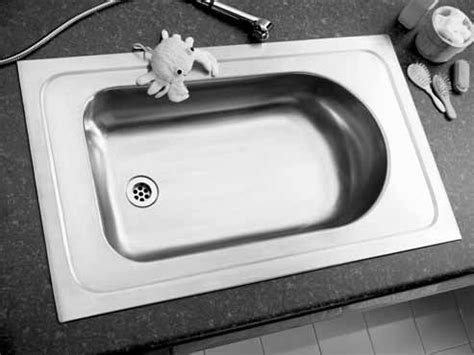 stainless steel inset baby bath