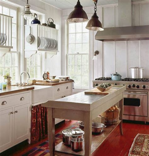 Home Design Living Room Cottage Kitchens