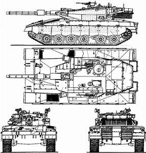 Merkava Battle Tank Diagram Schematic Glossy Poster Photo