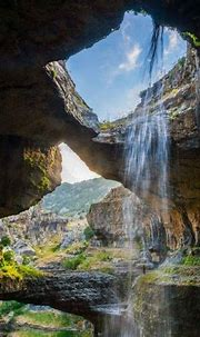 cave, Waterfall, Gorge, Lebanon, Erosion, Nature ...