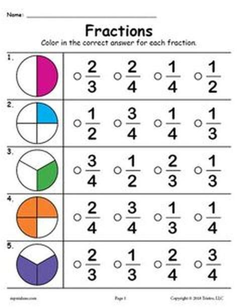 grade fractions worksheets  grade worksheets