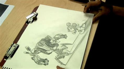 Time Lapse Epic Mickey Drawing Shows Off Mickey And Enemy