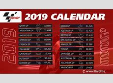 2019 MotoGP schedule announced – Throttle News