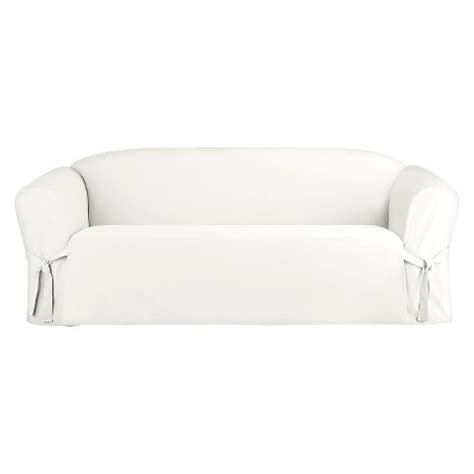 sure fit cotton canvas sofa slipcover white target