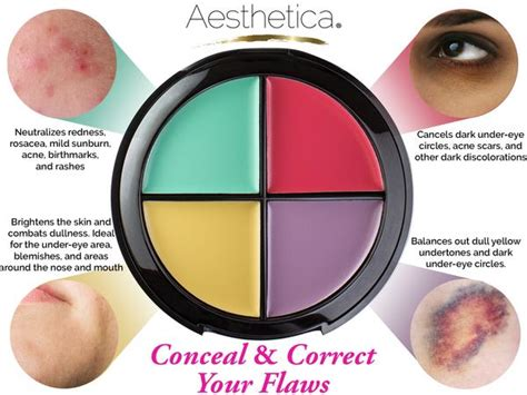 what color cancels out aesthetica color correcting concealer aesthetica me