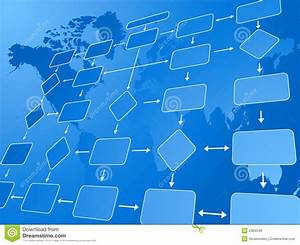 Business Flow Chart Blue Stock Vector  Image Of Shape