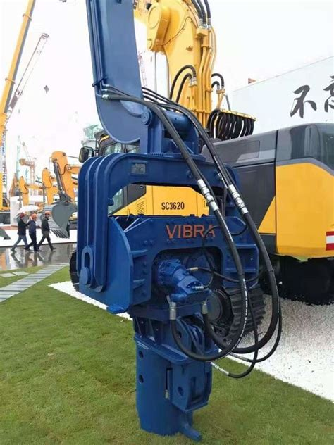 highly efficient hydraulic pile driver vibratory hammer pile driver rpm