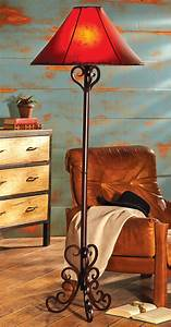 Andalusia iron scroll floor lamp for Metal scroll floor lamp