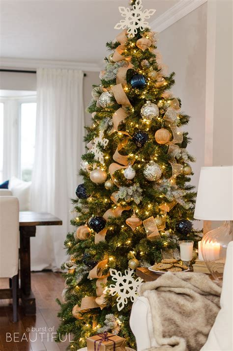 navy  gold christmas tree gold christmas christmas