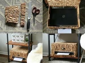 Kabel Am Schreibtisch Verstecken : drucker in einer korbkiste verstecken design wohnen pinterest drucker verstecken und ~ Sanjose-hotels-ca.com Haus und Dekorationen