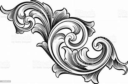 Scrolls Flowing Tattoo Filigree Drawing Clipart Gothic