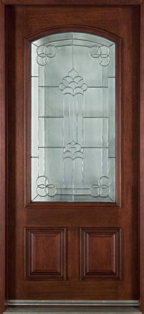 entry door  stock single solid wood  dark