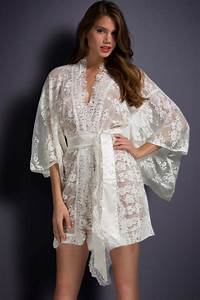 women in white belted lace kimono nightwear cheap With robe pour dormir