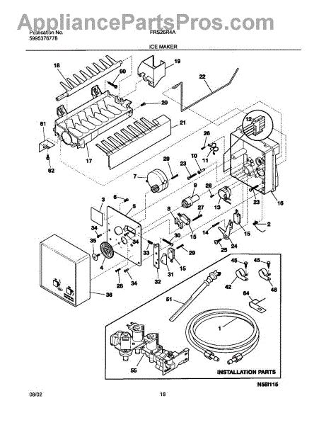 Parts For Frigidaire Frsraw Ice Maker