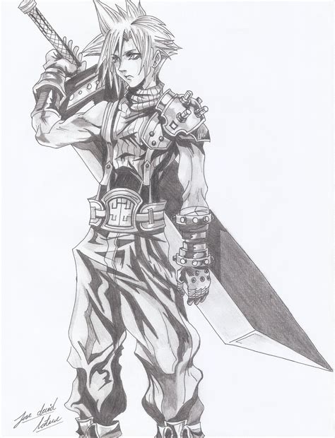 Download ff drawing 1.0 and all version history for android. Cloud Strife, Final Fantasy VII by davidlatorre on DeviantArt