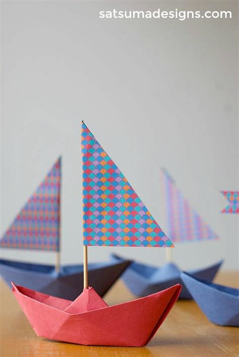 How To Fold A Paper Boat Easy by How To Fold A Paper Boat Paper Boat Garland Satsuma