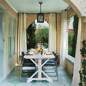 Outdoor curtains for porch and patio designs 22 summer for Outdoor balcony curtains