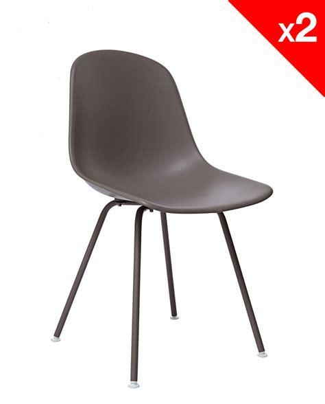 chaises métal lot de 2 chaises design dsx piètement métal supa