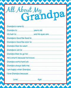 Granpda Questionnaire Let the kids fill one out by ...