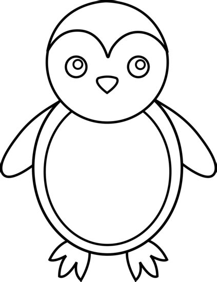 penguin clipart black and white penguin line free clip