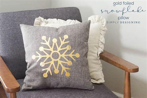 foil fabric      snowflake pillows