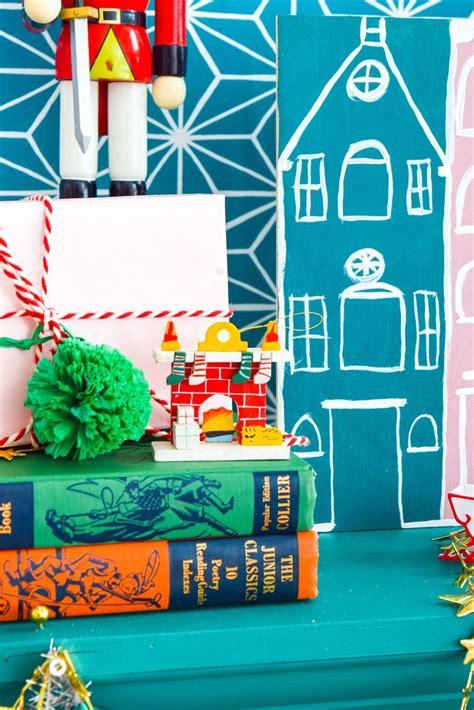 diy painted christmas village merry craftmas fun