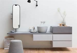 Meuble De Salle De Bain Maison Du Monde : une salle de bains design avec meuble asymtrique with meuble salle de bain maison du monde ~ Melissatoandfro.com Idées de Décoration