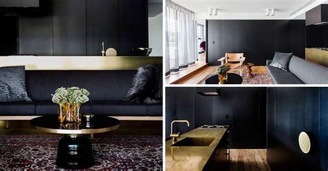 apartment  filled   palette  black  gold
