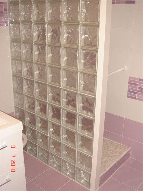 amenagement cuisine ilot central cloison briques de verre deco renov