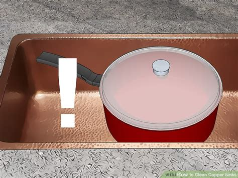 ways  clean copper sinks wikihow