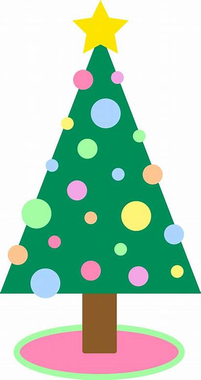 Tree Clipart Iphone Clip Simple Christmas Pastel