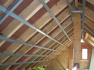Faux Plafond Placo Sur Rail : rail placo pour plafond en pente communaut leroy merlin ~ Melissatoandfro.com Idées de Décoration