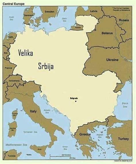 Velika Srbija Mapa
