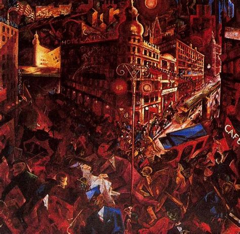 The City, Oil On Canvas by George Grosz (1893-1959, Germany)