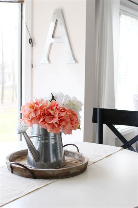 Simple DIY Farmhouse Style Spring Centerpiece ? Miss in