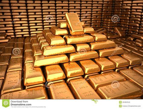 chambre de compensation banque chambre forte de banque remplie de lingot d 39 or