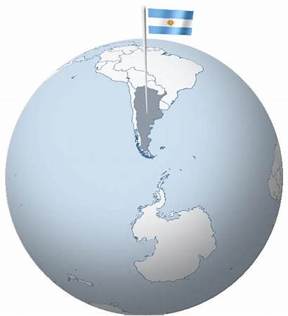 Argentina Flag Globe Waving South Flags Its