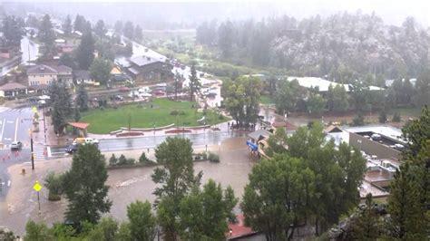 estes park floods september   youtube