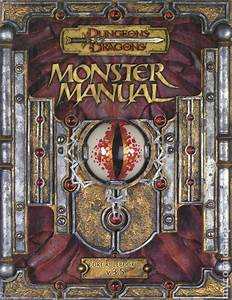 Dungeons And Dragons Monster Manual Hc  2000 Wotc  Core