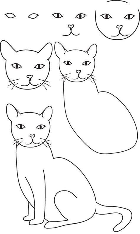 les 25 meilleures id 233 es de la cat 233 gorie dessiner un chat sur dessin chat comment