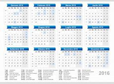 Calendario Calendario 2016 con giorni festivi e ponti