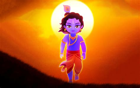 Cartoon Krishna Full Hd Wallpaper