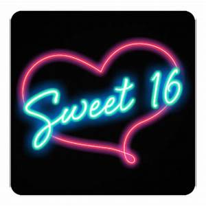 Sweet 16 Glow Invitations & Announcements