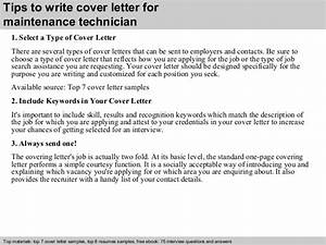 maintenance technician cover letter With cover letter for maintenance mechanic position