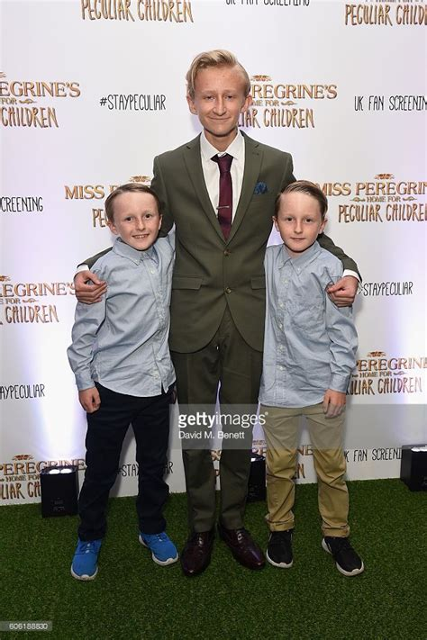 tom odwell hayden keeler and joseph odwell attend a uk fan screening of miss peregine s