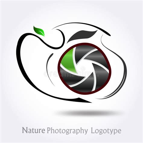 nature photography company logo vector stock vector