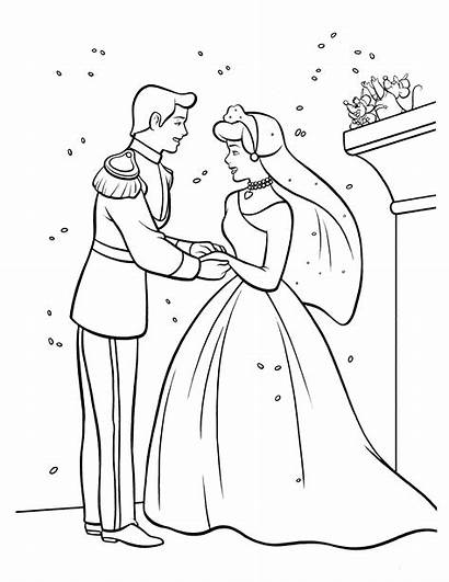 Cinderella Drawing Coloring Pages