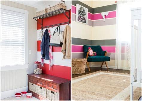 Kinderzimmer Wandgestaltung Streifen by Zwei Oder Drei Farben Kombinieren Rot Wei 223 Und Pink