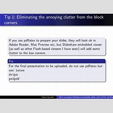 How To Use Latex And Beamer To Prepare Presentation For Slideshare